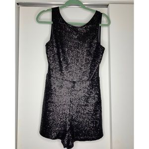 Brand New Black Sequin Jumpsuit